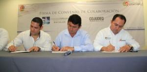 Firman convenio COJUDEQ y UPB para garantizan Educación Superior a los Atletas