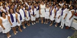 Toma protesta Mariana Zorrilla de Borge a la presidenta y damas voluntarias del DIF Tulum