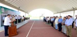 Inaugura el rector José Manuel Piña instalaciones deportivas en el Campus Bicentenario de la UJAT