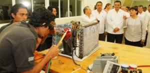 Fortalecen infraestructura educativa en el centro del estado de Yucatán