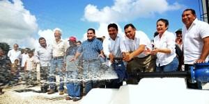 Mejor servicio de agua potable para comunidades apartadas de Motul en Yucatán