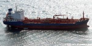 A punto de encallar Barco panameño en el puerto de Coatzacoalcos