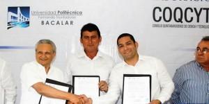 Firman convenio COQCYT y la Universidad Politécnica de Bacalar
