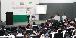 Celebran en Teapa día internacional de la eliminación de la violencia contra las mujeres