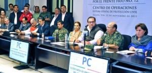 Protección Civil en Veracruz alerta permanente por frente frío 12: Javier Duarte