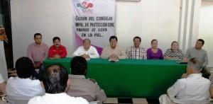 Declara alcalde de Paraíso sesión permanente del Consejo Municipal de Protección Civil