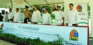 Conmemora el gobierno el 111 Aniversario de la creación del territorio federal de Quintana Roo