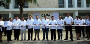 Inauguran el gobernador y el director de la CONAGUA oficinas de CAPA en Solidaridad