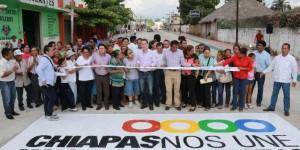 En 2013 gobierno de Chiapas  ha invertido 15 veces más en pavimentación que el año pasado