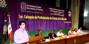 Realizan coloquio de profesores en Ciencias de la Educación en la UJAT