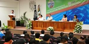 Inicia simposio internacional sobre nutrición acuícola en la UJAT