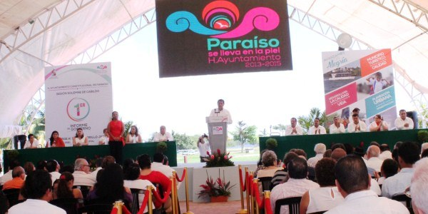 ALCALDE DE PARAISO PRIMER INFORME