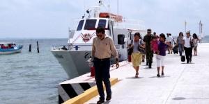 Rompe record trafico maritimo de pasajeros hacia Isla Mujeres en 2013