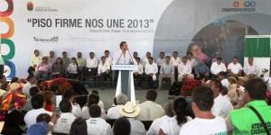 Gobierno invierte 60 millones de pesos para programa Piso Firme en 16 municipios de Chiapas