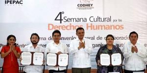 Cumplimiento de los derechos humanos, indispensable para el bienestar de Yucatán: Rolando Zapata