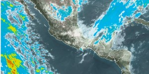 Canal de baja presión podría generar lluvias ligeras para la noche del 31 de diciembre al Sureste