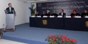 Gobernadores de Chiapas y Puebla en entrega de Honoris Causa en UNACH