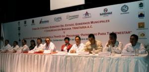 Firman el gobernador y alcaldes de Quintana Roo con Mariana Trinitaria convenio para elevar calidad de vida ciudadana