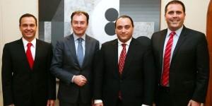 Cordial reunión del gobernador Roberto Borge con el Secretario de Hacienda Luis Videgaray