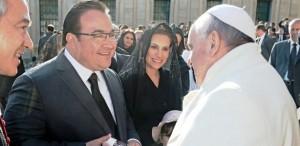 Invita el gobernador Javier Duarte al papa Francisco a visitar Veracruz