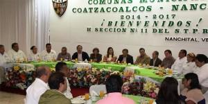 Se reúne Alcalde de Coatzacoalcos con la Sección 11
