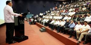 Anuncia el Gobernador de Yucatán aumento en el número de agentes policíacos