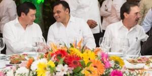 El Gobernador de Yucatán y el titular de la SEGOB asisten a convivio con senadores