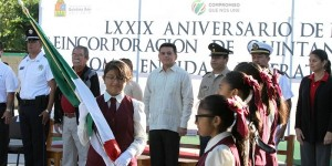 Encabeza Alcalde de Cozumel ceremonia de reincorporación del estado como territorio federal