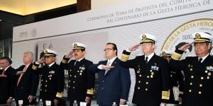 Veracruzanos y marinos, unidos por México: Javier Duarte