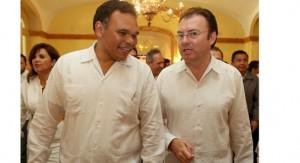 Se reúne Rolando Zapata Bello con secretario de Hacienda, Luis Videgaray Caso