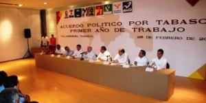 Vigente, Acuerdo Político por Tabasco: Arturo Núñez