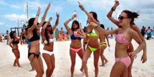 Llegan a Cancun los spring breakers