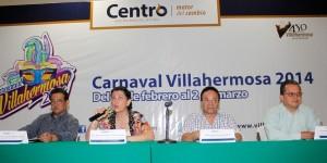 Listo Carnaval de Villahermosa