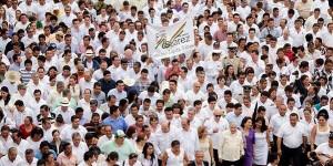 Encabeza Arturo Núñez Jiménez Marcha de la Lealtad en Tenosique