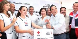 Dona Ayuntamiento de Coatzacoalcos 100 mil pesos a la Cruz Roja 2014