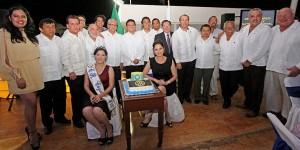 Reconoce el alcalde Fredy Marrufo labor del grupo Rotario de Cozumel