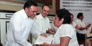Maestros yucatecos obtendrán refinanciamiento de créditos vía nómina