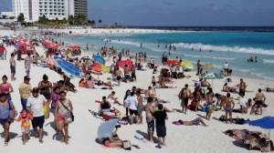 Buena afluencia de turista en Cancún y Puerto Morelos inicio de Marzo