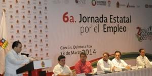 Inaugura el gobernador en Cancún la sexta Jornada Estatal de Empleo 2014
