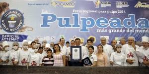 Obtiene Yucatán Record Guinness por la pulpeada más grande del mundo