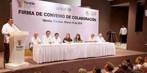 Suman esfuerzos Gobierno del Estado y UNICEF en pro de la niñez yucateca