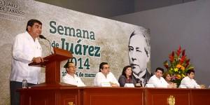 La UJAT inicia actividades de la Semana de Juárez 2014