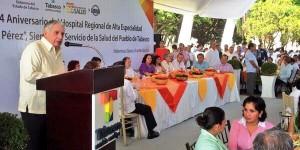 """""""Mi gobierno no regateará un sólo quinto a la salud de los tabasqueños»: Arturo Nuñez"""