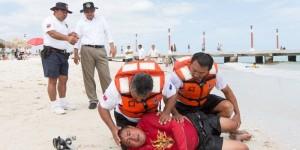 Salvaguardan integridad de bañistas en playas de Yucatán