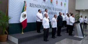Participa Roberto Borge en la reunión Regional de Seguridad de la Zona Sureste