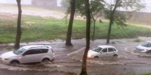 Lluvias provoca caos vial en la capital de Tabasco