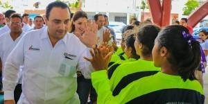 Entrega el gobernador Roberto Borge un Domo Multifuncional en Cozumel