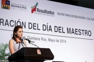 Encabeza Mariana Zorrilla de Borge desayuno del día del Maestro en Quintana Roo