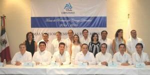 Atestigua el gobernador Roberto Borge Consejo Directivo 2014-2016 COPARMEX Cozumel
