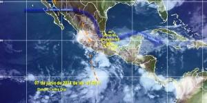 Lluvias fuertes en sur, sureste, oriente y centro del país: CONAGUA
